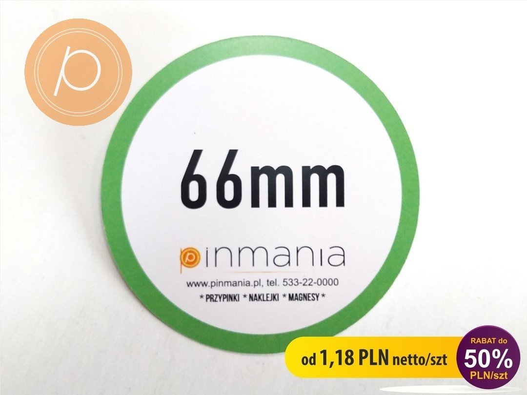 Eco friendly badge - 66mm
