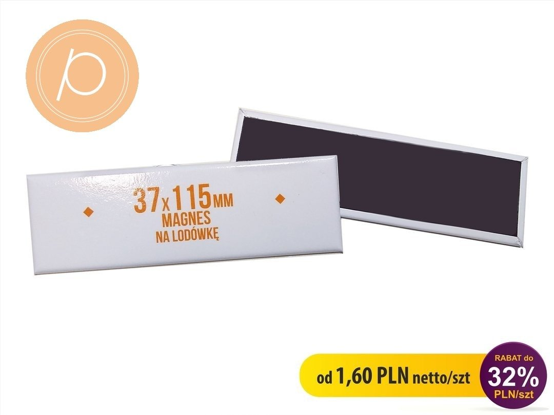 Magnes prostokąt LUX 37x115mm