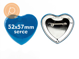 Przypinka w kształcie serca 52x57mm - zapinane na agrafkę