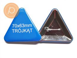Przypinka w kształcie trójkąta 70x63mm - zapinane na agrafkę