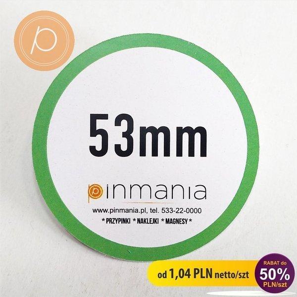 Eco friendly badge - 53mm